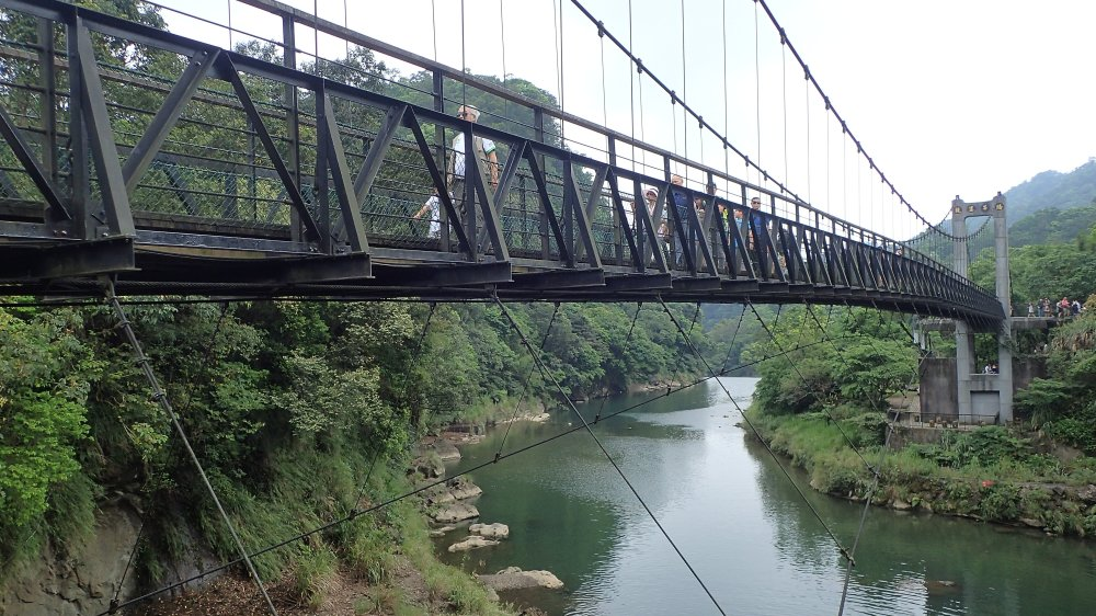Suspended Bridge above the Keelung River